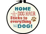 "Stitch Wits Pet Hair Mini Counted Cross Stitch Kit-6"""""""" Round 14 Count"" 9SIV01U6Z25978"
