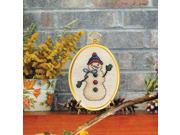 "Friendly Snowman Mini Counted Cross Stitch Kit-3""""""""X4"""""""" 14 Count"" 9SIA17P4N18875"