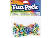 Fun Pack Alphabet Beads-Square Rainbow Mix 85/Pkg 9SIA00Y0PZ2935
