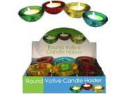 Round Glass Votive Candle Holder Countertop Display Case Pack 12 9SIA2F84RA4377