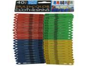 Multi-Colored Plastic Clothespins Case Pack 24 9SIV01U4YS7589