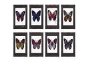 BENZARA IMX A0865298 Arty Butterfly Framed Glass Wall Decor ? Assorted 8
