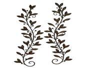 BENZARA 22937 METAL WALL DECOR PAIR ATTRACTS EVERY NATURE LOVER 22937
