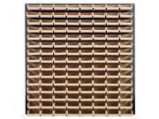 Quantum Storage Systems QLP-3661-220-120 Louvered Panels With 120 Stack Storage Bins Complete Package Ivory
