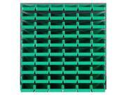Quantum Storage Systems QLP 3661 230 60 Louvered Panels With 60 Stack Storage Bins Complete Package Green