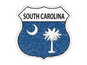 SmartBlonde 11 Lightweight Durable HS 148 South Carolina State Flag Highway Shield Aluminum Metal Sign