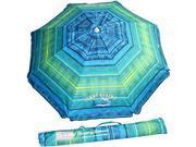 Tommy Bahama 2016 Sand Anchor 7 feet Beach Umbrella with Tilt and Telescoping Pole (Green/Blue Stripe) 9SIA17P5HH7521
