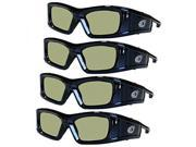 SAMSUNG 4 PACK Compatible eDimensional RECHARGEABLE 3D Glasses for 2011-15 Bluetooth 3D TV's 9SIA17P5HH7516