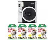Fujifilm FU64-INSM9K040 Fujifilm INSTAX MINI 90 NEO CLASSIC Camera and Film Kit, 40 Exposures (Black/ Silver)