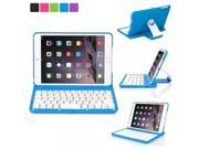 Luxmo Aluminum 360 Swivel Rotating Stand Case Cover Built-in Bluetooth Keyboard for Ipad Mini & iPad Mini with Retina Display Blue 9SIA17P5S28745