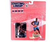 ANTHONY MASON / CHARLOTTE HORNETS * 1997 EXTENDED SERIES * NBA Starting Lineup Action Figure & Exclusive NBA Collector Trading Card 9SIV1976SN3666
