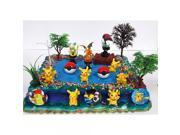 POKEMON GO Birthday Cake Topper Set Featuring Pokemon Characters, Poke Balls, and Other Decorative Accessories 9SIV1976T41332
