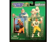 REGGIE WHITE / GREEN BAY PACKERS 1998 NFL Starting Lineup Action Figure & Exclusive NFL Collector Trading Card 9SIV1976SN2609