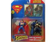 Superman - Man of Steel Cyber-Link Superman & Cyber-Link Batman Action Figure by DC Comics 9SIA17P5TG3518