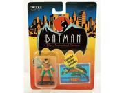 1993 - ERTL / DC Comics - Batman : The Animated Series - Robin - 2 Inch Die Cast Metal Figure - w/ Collector Sticker - #2470 - Out of Production - New - Mint - 9SIV1976SN3722