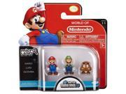 NINTENDO Mario Bros Universe Micro Wave 1: Mario, Luigi and Goomba Action Figure, 3-Pack 9SIV1976SM2723