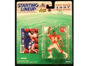 DALE CARTER / KANSAS CITY CHIEFS 1997 NFL Starting Lineup Action Figure & Exclusive NFL Collector Trading Card 9SIV1976SN1787