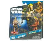 Star Wars 2011 Clone Wars Animated Exclusive Action Figure 2Pack ARF Trooper Waxer Battle Droid 9SIA17P5TH2224