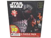 Star Wars Episode 7 The Force Awakens Puzzle - 5 Puzzle Pack 9SIA17P5TV0388