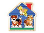 Melissa & Doug House Pets Jumbo Knob Puzzle - 3 Piece 9SIV1976SP8449