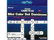 Pressman Double Six Mini Color Dot Dominoes 9SIA17P5TU9571