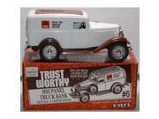 Ertl Die Cast Trust Worthy 1932 Panel Truck Bank with Key 1:25 Scale