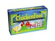 Dominoes Chicken Foot Double 9, Tournament Size Set with Colored Dots 9SIA17P6J44402