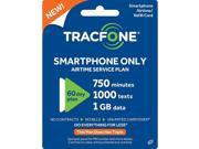Tracfone Smartphone Plan / 60 Days, 750 Minutes, 1000 Texts, 1GB Data