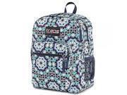 Trans by Jansport Backpack Supermax Navy Moonshine Moroccan Design