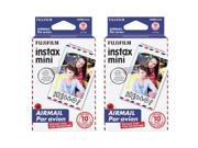 Fujifilm Instax Mini Airmail Film - DOUBLE PACKAGE! (20 Exposures)!!