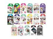 Fujifilm Instax Mini Instant Film 17 SET , Sky Blue , Black , Single , Monochrome , Candy pop , Stained Glass , Shiny Star , Rainbow , Comic , Airmail , Stripe