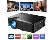 1500 Lumens Video Projector 1080P HD, Weton LCD Mini Movie Projector Portable Multimedia Home Theater Projector for iphone/Andriod Smartphones Support HDMI AV V 9SIV1976WH8514