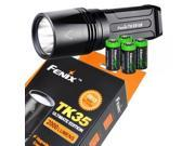 FENIX TK35 Ultimate Edition 2015 version (TK35UE) 2000 Lumen CREE XHP 50 LED Tactical Flashlight with 4 X EdisonBright CR123A Lithium batteries, Holster & Lanya 9SIV1976WH7472