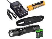 Fenix PD35 TAC 1000 Lumen CREE LED Tactical Flashlight with Fenix ARB-L2S 18650 Li-ion rechargeable battery, Fenix smart charger and 2 X EdisonBright CR123A Lit 9SIV1976WJ4020