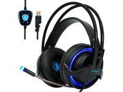 [2017 SADES R2 New Version PC Gaming Headset], 7.1 Surround Sound Gaming Headphones with Retractable Mic USB Gaming Headsets Stereo Professional headsets Noise 9SIV19773U4711
