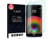 LG X Power Screen Protector, J&D Glass Screen Protector [Tempered Glass] HD Clear Ballistic Glass Screen Protector for LG X Power - Protect Screen From Drop and 9SIV19774R8437