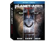 planet of the apes trilogy bd +digital hd bluray