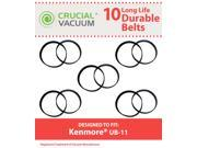 Image of 10 Kenmore UB-11 Durable Vacuum Belts Designed To Fit Kenmore Uprights Using UB-11 Belts; Designed & Engineered By Crucial Vacuum