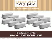 12 KitchenAid Charcoal Coffee Filters Fit KCM222 & KCM223 Water Filter Pod & Coffee Makers, Compare to Part # KCM22WF, Designed & Engineered by Crucial Coffee 9SIA1832YX5806
