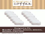 12 Breville Single Cup Coffee Brewer Charcoal Filters, Part # BWF100, Designed & Engineered by Crucial Coffee