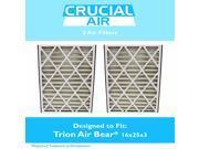 2 Trion Air Bear 16x25x3 Merv 8 Replacement Air Filters, Part # 255649-101 9SIA18332A0828