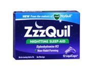 ZzzQuil Nighttime Sleep-Aid, LiquiCaps 12 Caps by Procter & Gamble