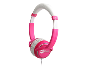 NoiseHush Pink 3.5mm Stereo Headphones with In-Line Mic NX26-11951