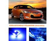 Hyundai Veloster 2012-2013 BLUE Interior LED Package (4 Pieces)