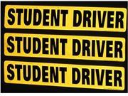 Set of 3 - Student Driver Magnets - Reflective Vehicle Car Sign - new
