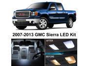 GMC Sierra 2007-2013 Xenon White Premium LED Interior Lights Package Kit (8 Pieces)
