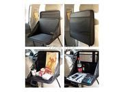 Zone Tech Foldable Automotive Back of Seat Laptop Holder Food Tray Table Black
