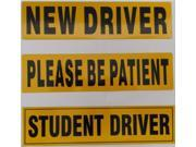 Zone Tech STUDENT DRIVER And NEW DRIVER And PLEASE BE PATIENT Magnet REFLECTIVE Magnetic Vehicle Car Sign