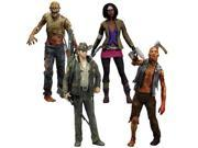 McFarlane Toys The Walking Dead COMIC Series 1 Set of 4 Action Figures Officer Rick Grimes, Michonne, Zombie Roamer Lurk 9SIV16A6745490