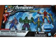 Marvel Avengers Exclusive Comic Collection 4 Inch Action Figure 4Pack Hulk, Classic Iron Man, Hawkeye, Loki 9SIV16A6727772